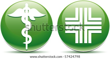 Buttons Pharmacy - stock vector