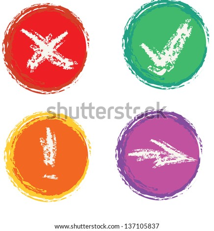 Buttons set - stock vector