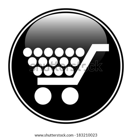 Buy button on white background - stock vector