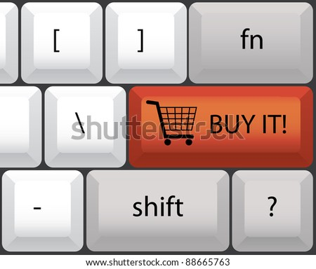 buy it keyboard illustration - stock vector