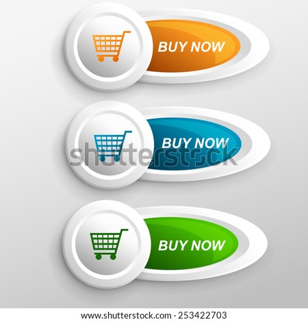 BUY NOW - stock vector