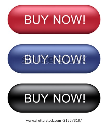 Buy Now Buttons - stock vector