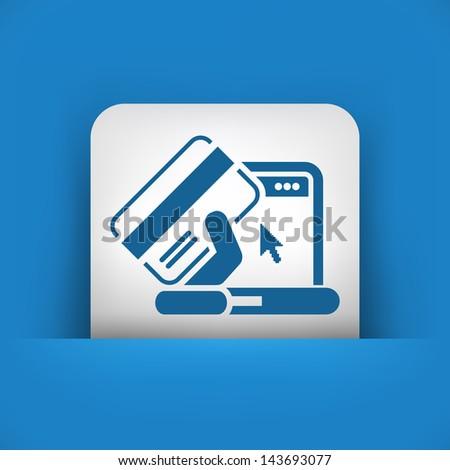 Buy online icon - stock vector