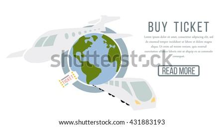 Buy Ticket Online - stock vector