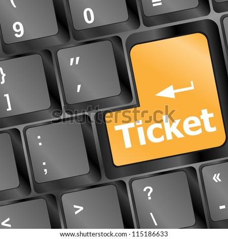 Buy tickets computer key - stock vector