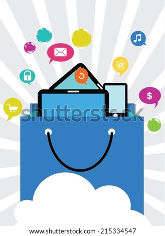 Buying online. E-commerce concept - stock vector