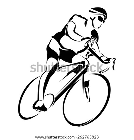 bycicle ride - stock vector