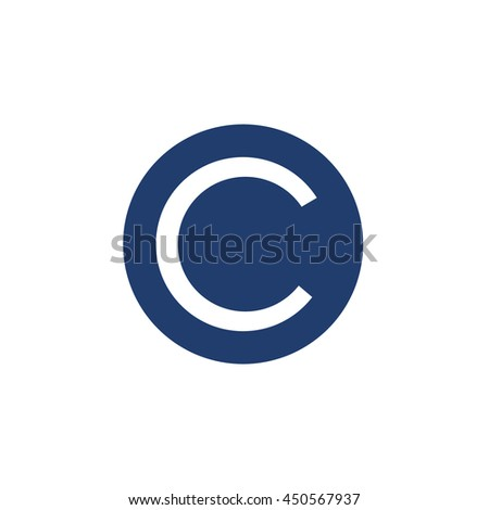 C copyright - stock vector