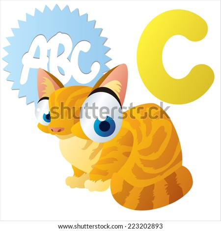 C is for Cat - stock vector