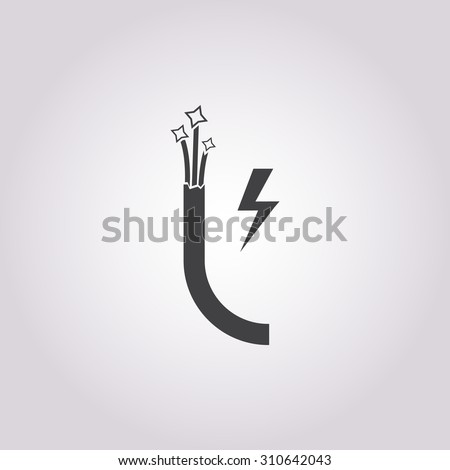 Cable icon. Cable icon vector. Cable icon simple. Cable icon app. Cable icon web. Cable icon logo. Cable icon sign. Cable icon ui. Cable icon black. Cable icon eps. Cable icon art. Cable icon draw.  - stock vector