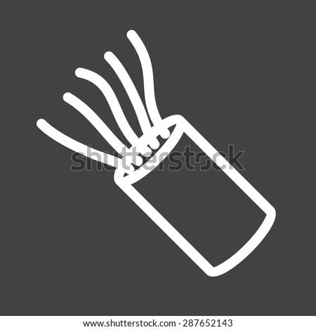 cable wires wiring icon vector image can also be used. Black Bedroom Furniture Sets. Home Design Ideas