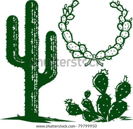 Cacti logo cactus stock vector
