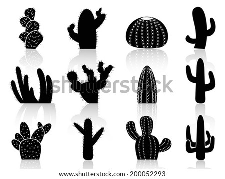 cactus Silhouettes - stock vector