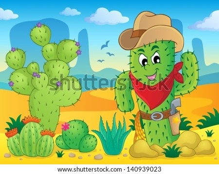 Cactus theme image 4 - eps10 vector illustration. - stock vector