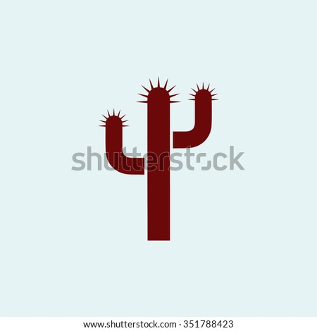 Cactus. vector icon. Simple modern illustration pictogram. Collection concept symbol for infographic project and logo - stock vector