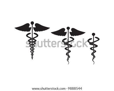 caduceus doctor symbol vector illustration - stock vector