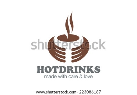 Cafe Coffee Tea Logo design vector template. Hot Drinks Logotype for bar menu. Creative concept icon. - stock vector