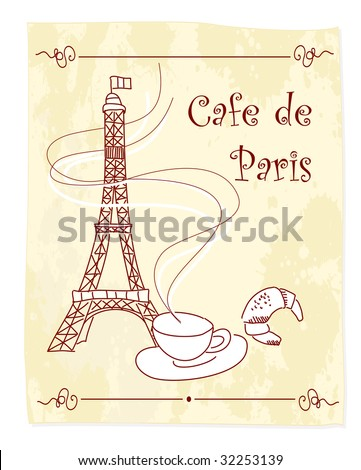 Cafe de Paris - stock vector