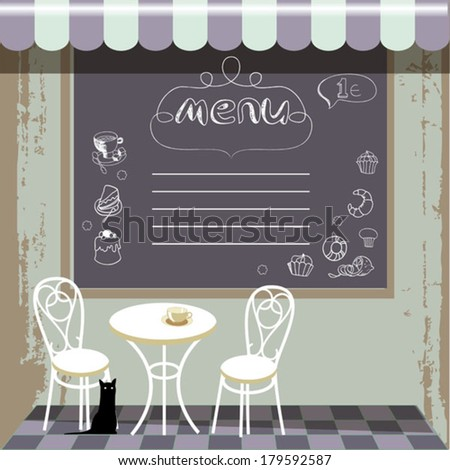 cafe in the street - stock vector