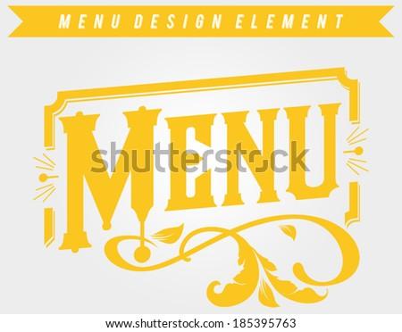 Cafe Restaurant Design Element - stock vector