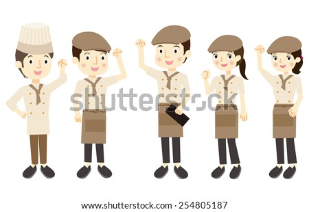Cafe Staff  - stock vector
