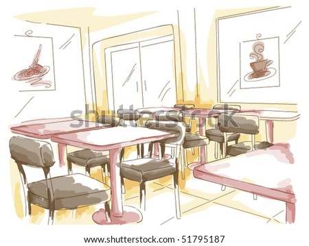 Cafe - Vector - stock vector