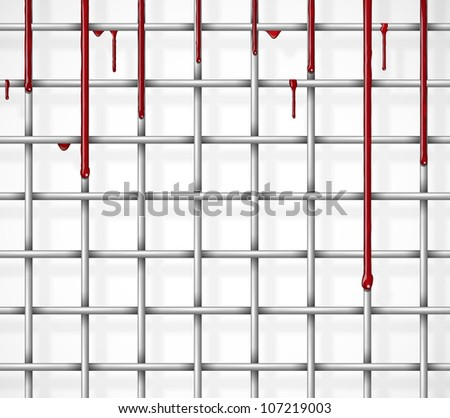 Cage from the blood flowing through it. Eps 10 - stock vector