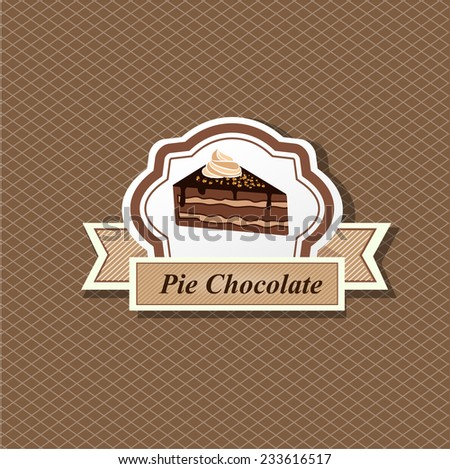 Cake Border - stock vector