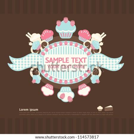 cake cards vector - stock vector