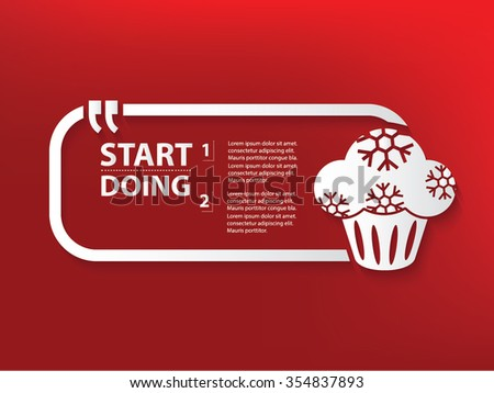 Cake Design and text box,vector - stock vector