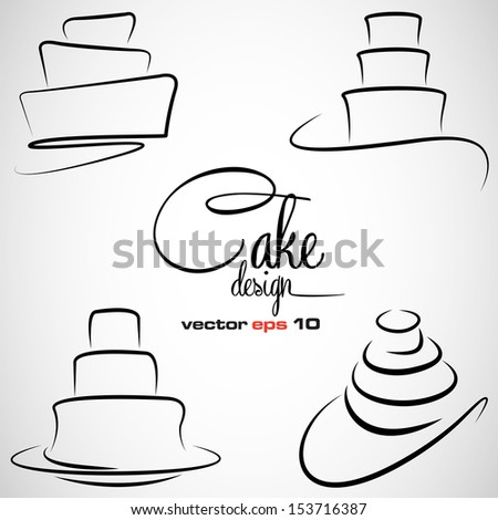 Cake Outline moreover Cakes Super Hero moreover Cupcake Line Drawing additionally Main Dessin C3 A9 Petit G C3 A2teau Ensemble 5651314 moreover Cake Clip Art 12244473. on birthday cake clip art
