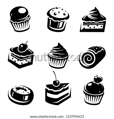 Cake set. Vector - stock vector