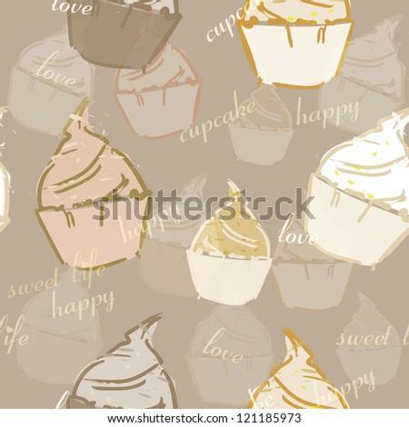 Cakes seamless - stock vector