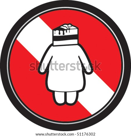 Cakewoman - stock vector
