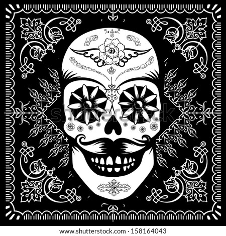 Calaverita Sugar Skull - stock vector
