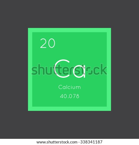 Calcium simple style tile icon. Chemical element of periodic table. Vector illustration EPS8 - stock vector