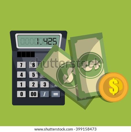 calculating costs design  - stock vector