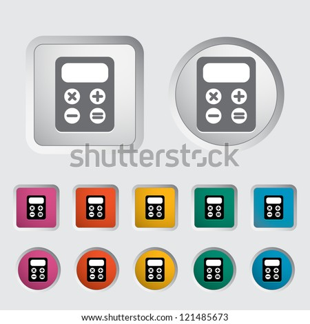 Calculator icon. Vector illustration. - stock vector