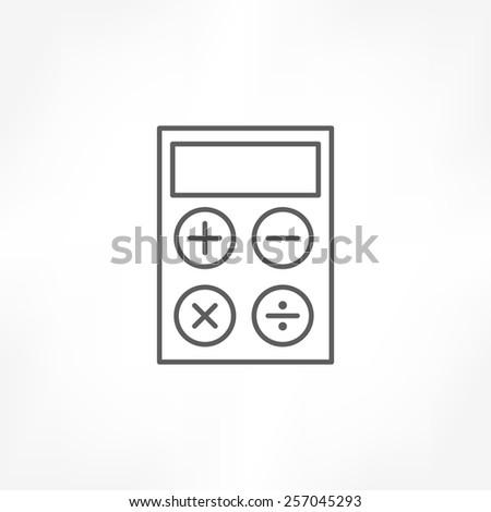 calculator line icon - stock vector
