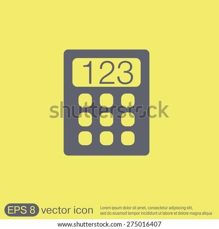 calculator. office sign - stock vector