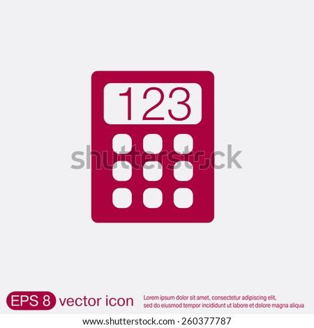 calculator. office sign.vector icon - stock vector