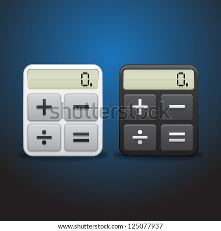 calculator vector - stock vector