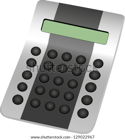 Calculator with round buttons. - stock vector