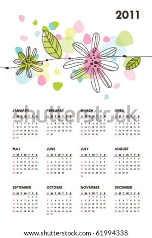 Calendar 2011 - stock vector