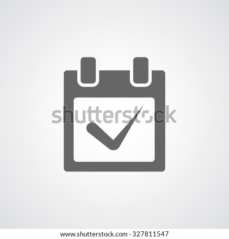 Calendar, appointment icon - stock vector