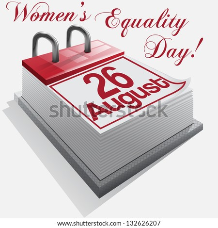 calendar 26 August, Women's Equality Day. Vector - stock vector