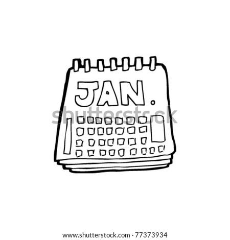 calendar cartoon - stock vector