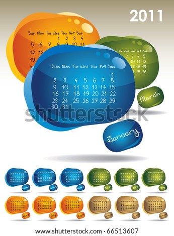 calendar for 2011 - stock vector