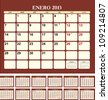 Calendar for 2013 (spanish language) - stock vector