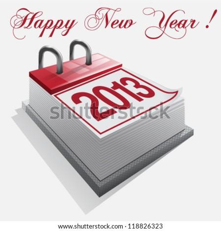 calendar Happy New Year - stock vector